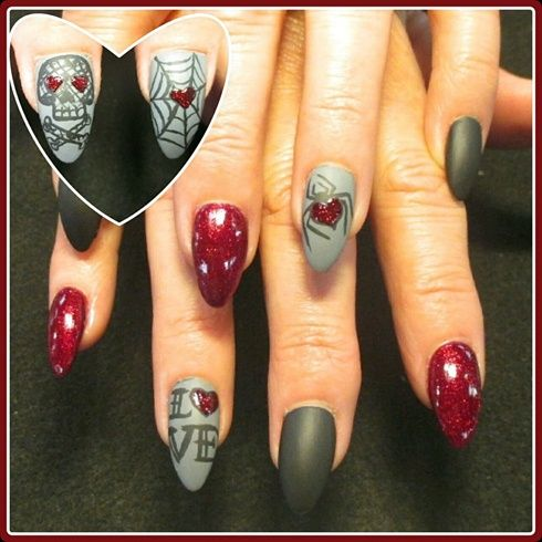 402 best gothicrockglitter nail art images on pinterest nail gothic valentine nails by oli123 nail art gallery prinsesfo Choice Image