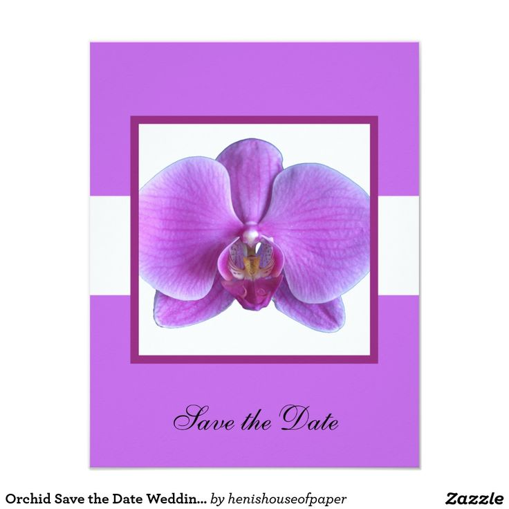 Orchid Save the Date Wedding Invitation