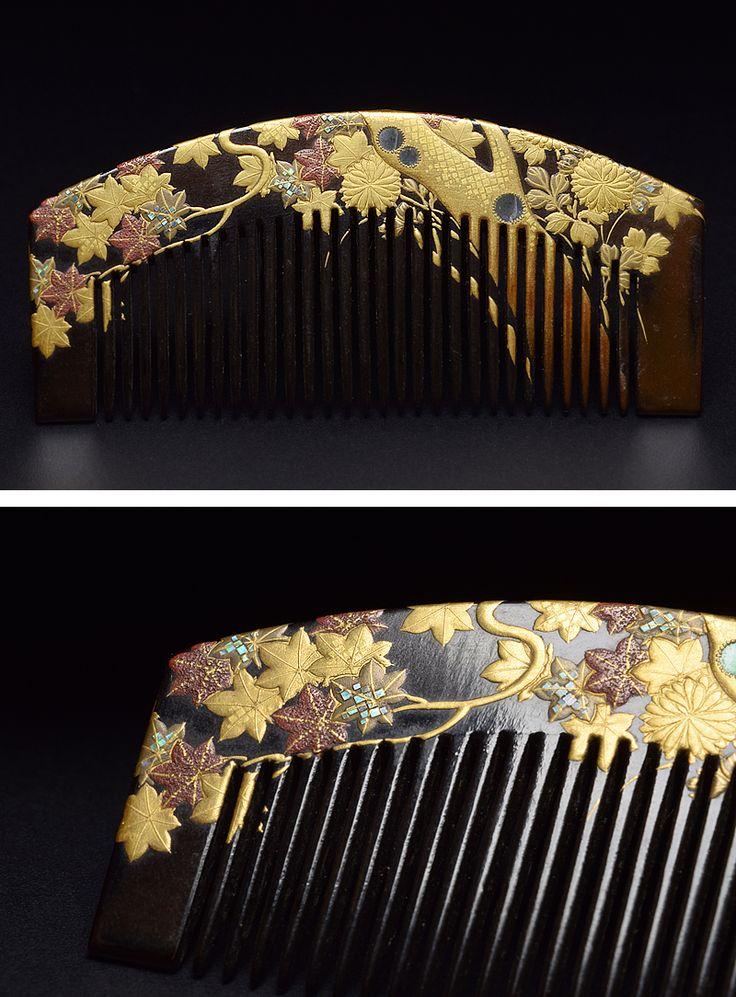 Japanese Comb. Signed SOEI.