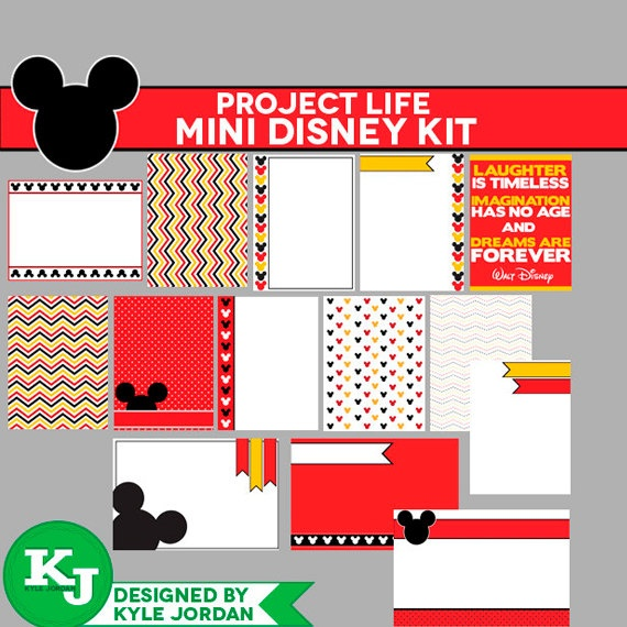 Project Life  Disney Journaling Cards  Instant by DesignedByKyle