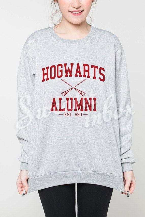Hogwarts Alumni Shirt Sweater Harry Potter EST 993 Women Sweatshirt Jumper T-Shirt Grey Tee Unisex Size S M L