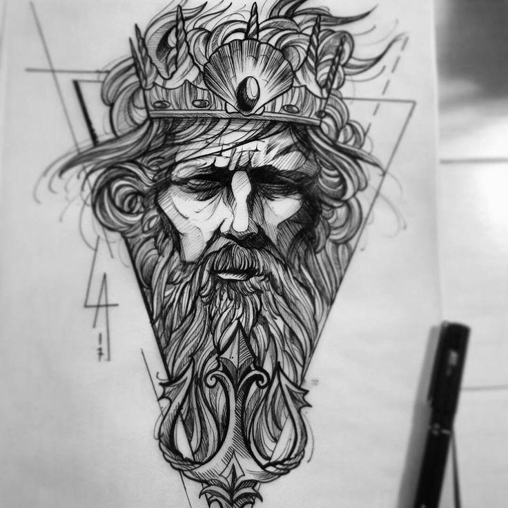 Sketch Tattoo Ideas Pinterest: Best 25+ Poseidon Tattoo Ideas On Pinterest