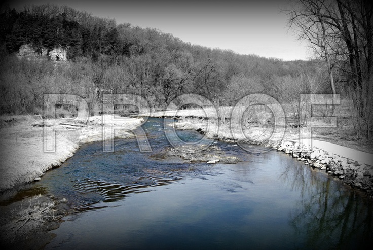 This unique photo was taken off the Upper Iowa River on Trout Run Road in Decorah, IA  *Print for Sale*