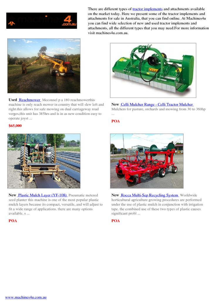 Tractor Implements Online Catalog | edocr