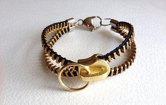 InfiniT Zipper Bracelet by ArtologieDesigns on Etsy, $35.00