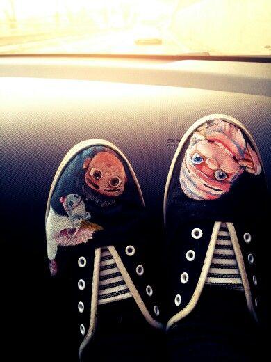 Despicable me handpainted shoes