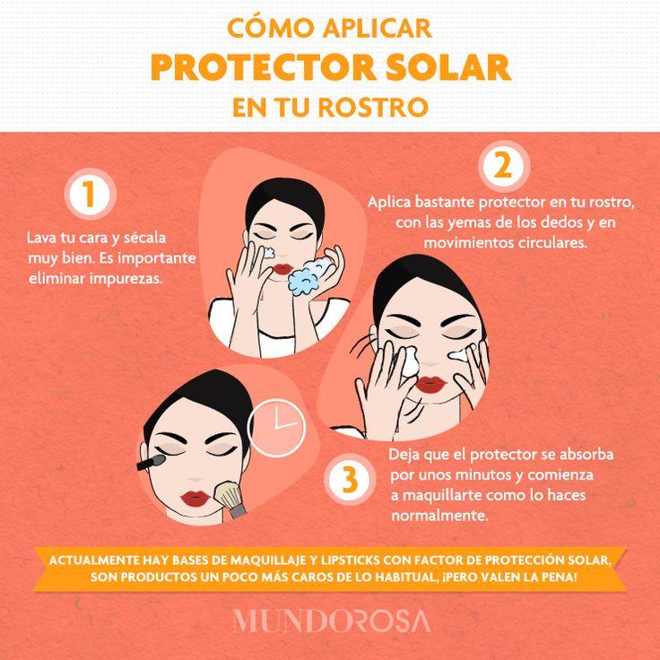 como aplicar protector solar y maquillaje