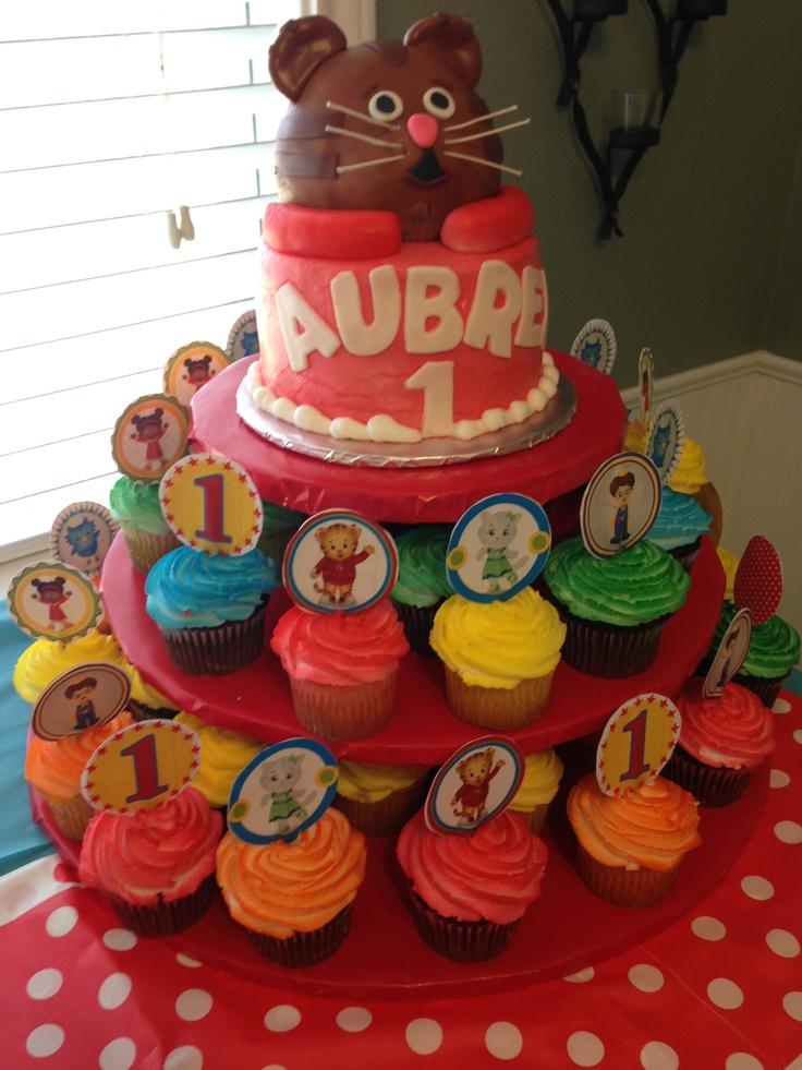 Daniel Tiger Birthday Cake And Cupcake Tower Daniel