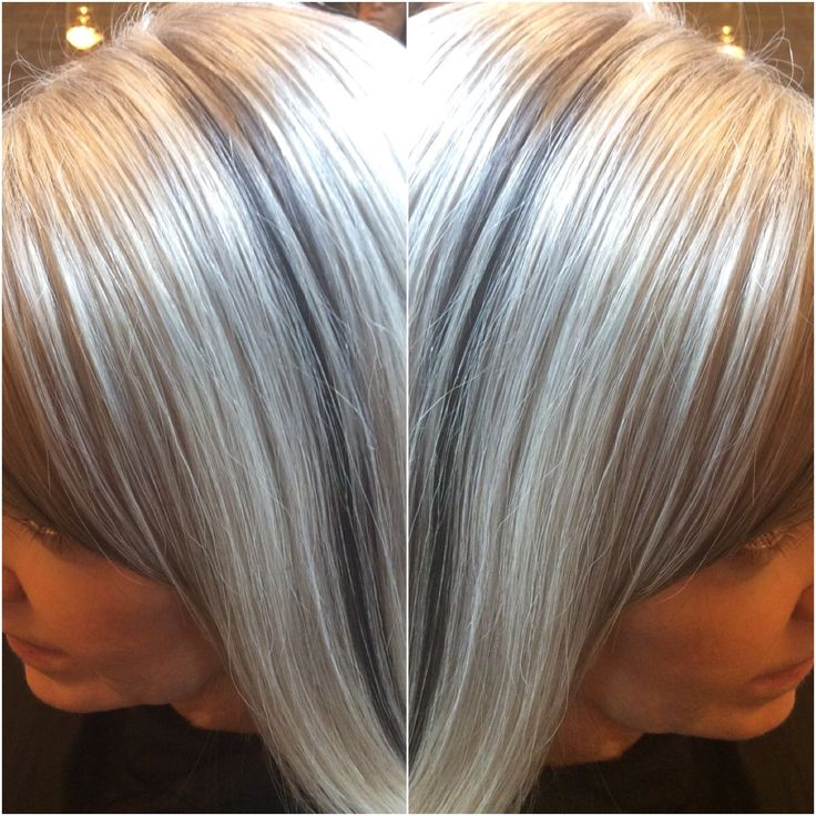 Ultra Cool Silver Blond with Lowlights