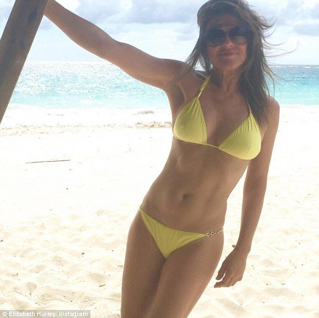 Wow thing: She's a keen advocate of health and fitness and Elizabeth Hurley showed off the...
