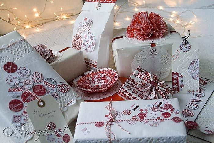 Many ideas of gift wrapping packages for Christmas #holidays #packaging