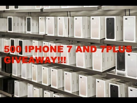 500 IPHONE 7 GIVEAWAY!!!