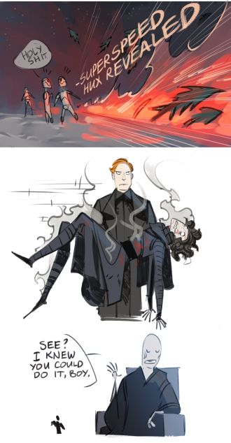 Hux the savior (he was the most charismatic character in the whole movie)