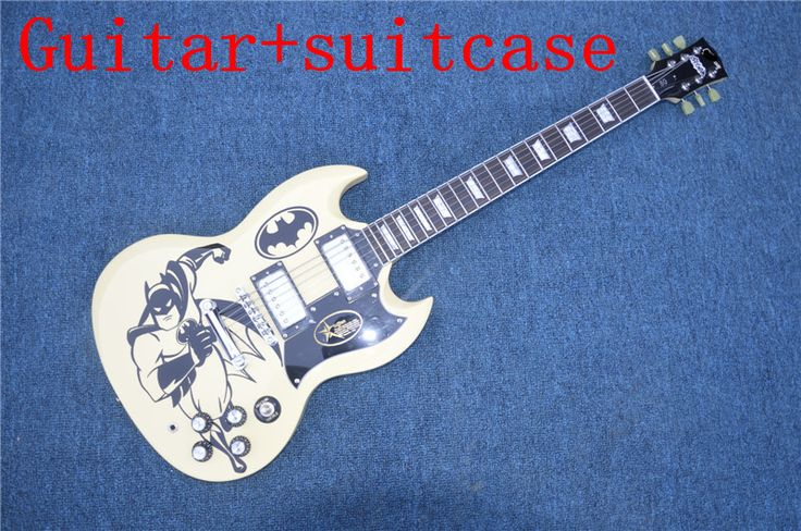 ==> [Free Shipping] Buy Best Human New guitar electric guitar sg custom store oem white / guitar in China free shipping Suitcase Online with LOWEST Price | 32774910603
