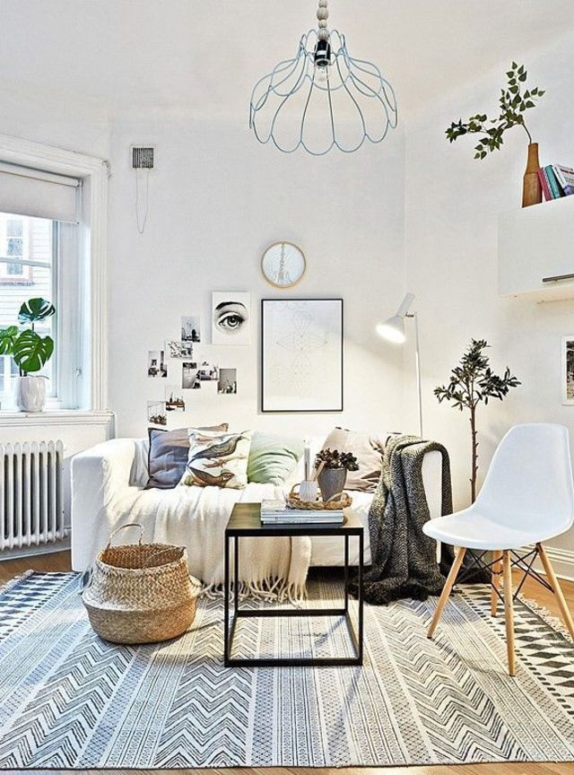 17 meilleures id es propos de petit salon sur pinterest - Tapis geometrique noir et blanc ...