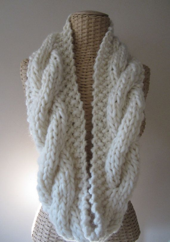 Hand Knit Super Chunky Infinity scarf