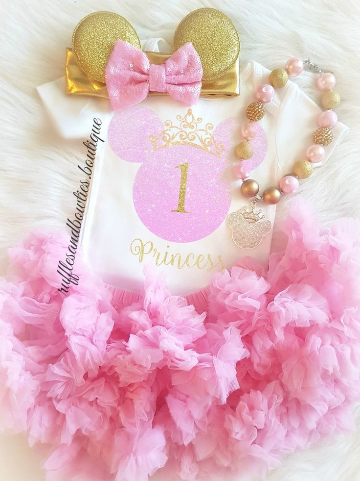 Princess Birthday Mouse Birthday Shirt© - Pink & Gold Miss Mouse Birthday Shirt