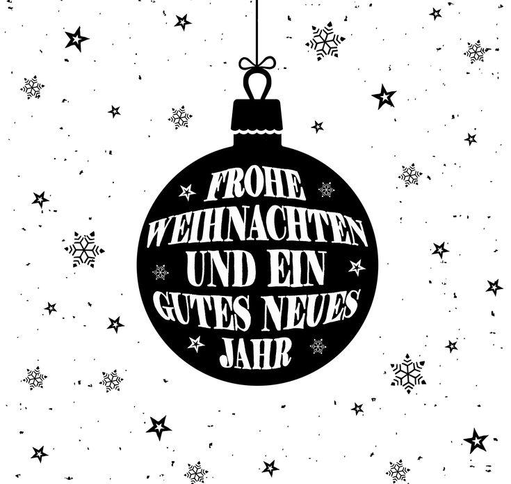 Frohe Weihnachten und ein gutes Neues Jahr, Handlettering Christmas Card design, Merry Christmas and a Happy New Year in German language