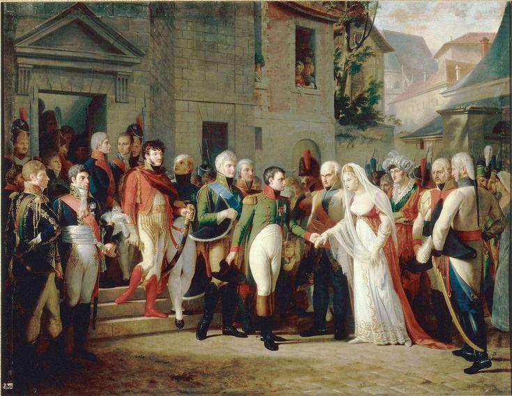 Napoléon reçoit la reine de Prusse à Tilsit.