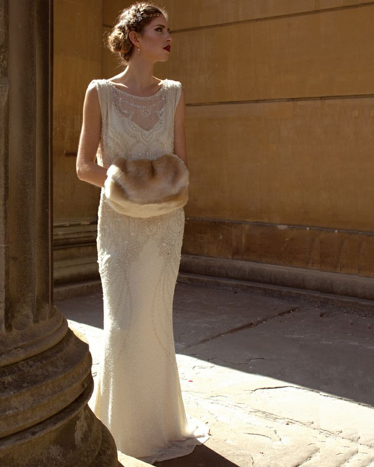 Bridal pixie muffler - hand muff - featured with Jenny Packham Esme. Fur by Blanche in the Brambles
