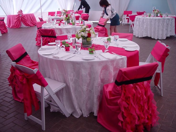 24 best banquet deco images on pinterest wedding chairs weddings pink chair cover ideas junglespirit Images