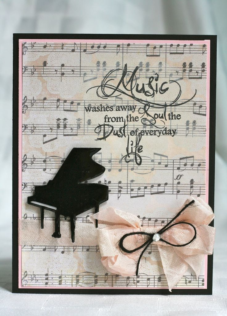 Created By Ally Using My Craft Spot Music Stamp Set