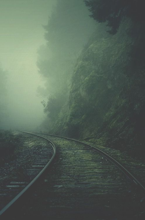 Wrong side of the tracks.