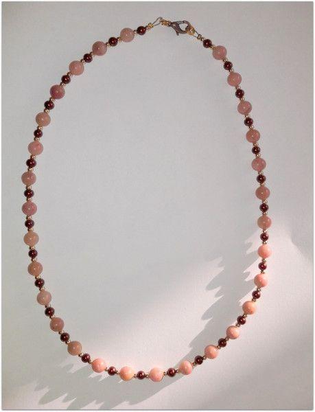Perlenketten - Halskette Rhodonit - ein Designerstück von Stephelia bei DaWanda