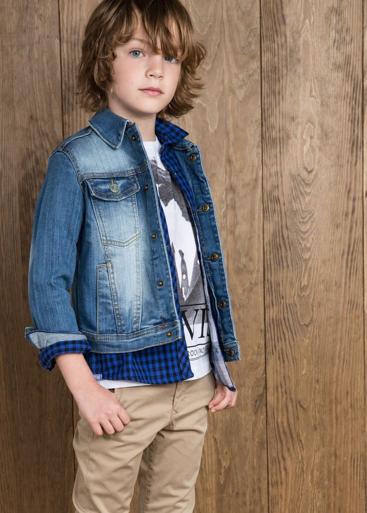 Giubbotto denim medio - Bambini | MANGO #kidswear #fall #winter #2014