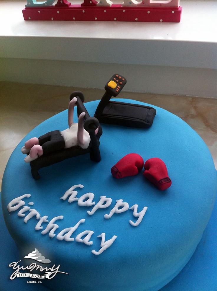 Birthday Cake Images Gym : 44 best Gym Cakes images on Pinterest Gym cake, Birthday ...