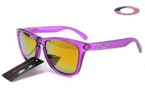 Fake Oakley Frogskins Sunglasses Crystal Purple Frame Fire Iridium