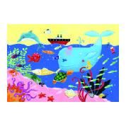 Original puzle porque además puedes pintarlo por el reverso también. Doble entretenimiento y horas de diversión. 24 piezas de cartón impresas por ambos lados, uno es el puzle de siempre y el otro lado es para colorear.  #puzle #manualidadesinfantiles  PVP: 18,70 €  http://www.babycaprichos.com/puzle-para-pintar-bajo-el-mar.html