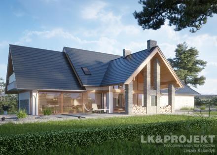 Projekty domów LK Projekt LK&1367 zdjęcie wiodące