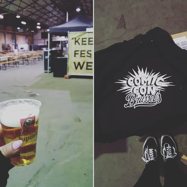 COMIC CON BRUSSELS build-up!WE ARE SO READY.  Come and buy an awesome hoodie/sweater/shirt with the new logo! #ccbx #comiccon #brussels