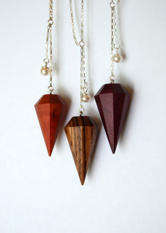 Wow, what a craving! Pop culture at its best!: Zebrawood diamond necklace - Light version - Sterling and wood necklace