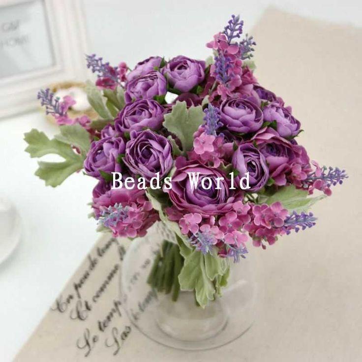 Pas cher 1 bouquet pourpre lavande bouquet fleur artificielle de mariage d coration de la maison - Pied de lavande pas cher ...