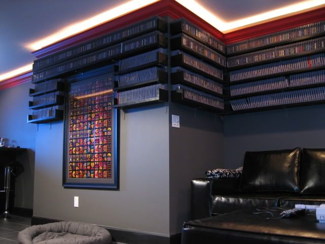 Maximus Clean S Cool Lighting And Game Shelves Arcade Room Retro Games Room Game Room