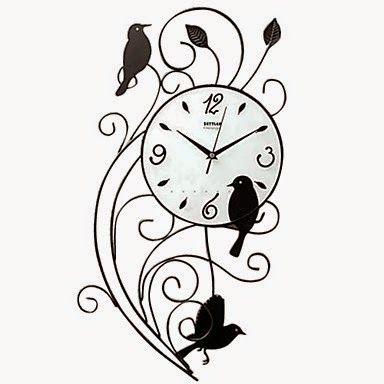 Reloj de Pared Pájaros de Hierro | Relojes de Pared