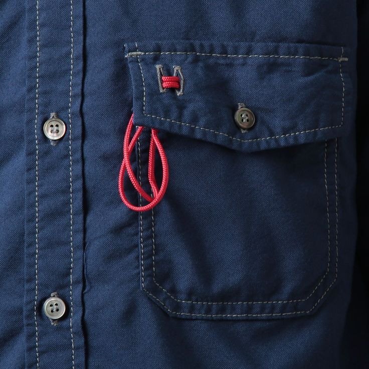 and wander / アンドワンダー|color ox shirt - Blue|正規通販取扱