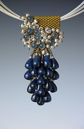 Beaded necklaces by Kay Bonitz Note the clever use of peyote stitch as a base!