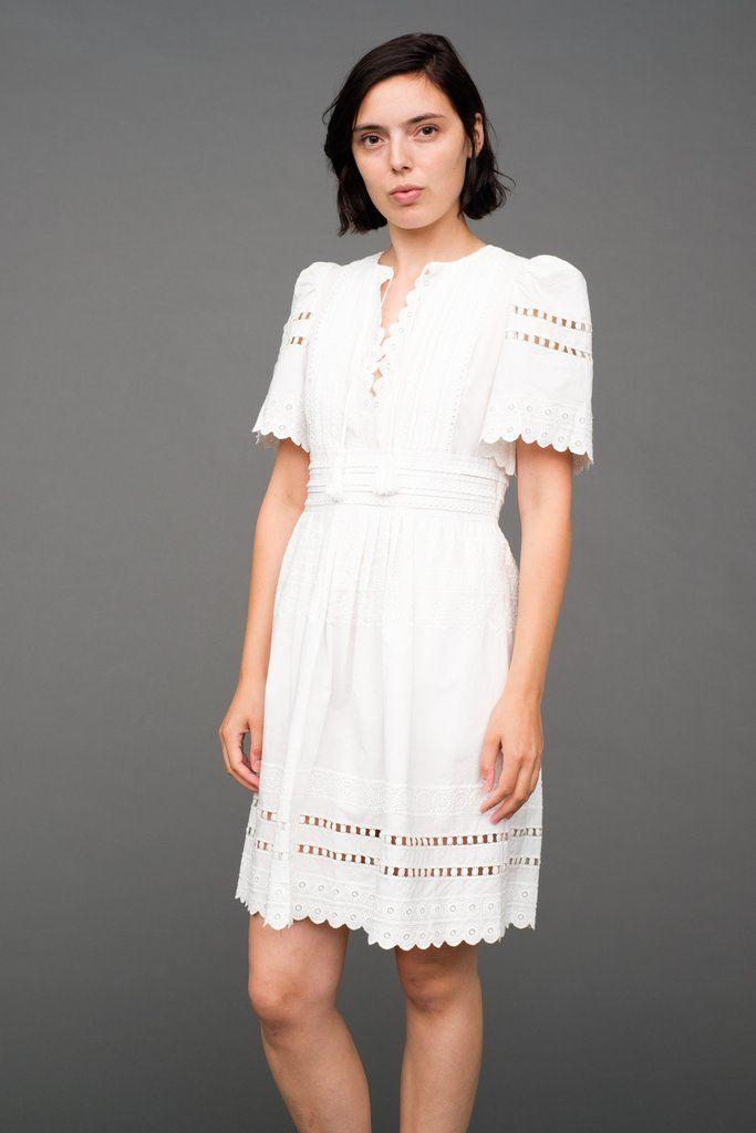 Sea NY - Navy Dress - Short Sleeve Pleated Dress                    – Sea, New York