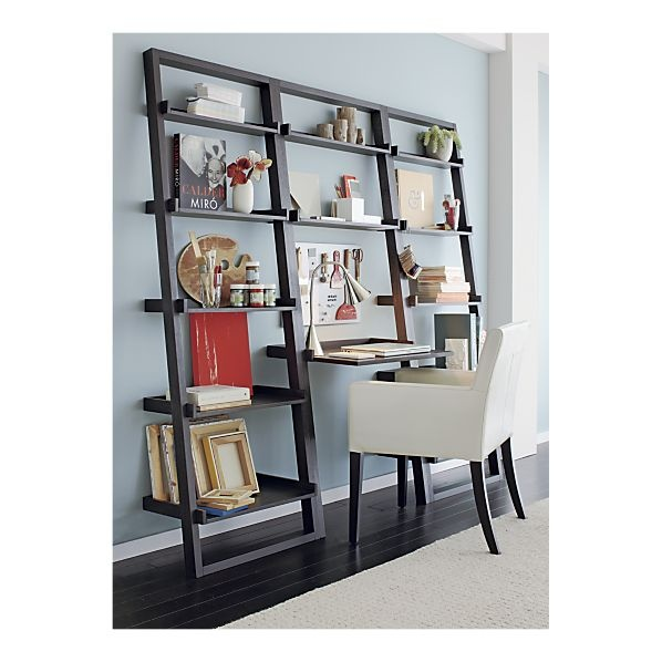 Sloane Grey Leaning Bookcase in Bookcases, Towers | Crate and Barrel