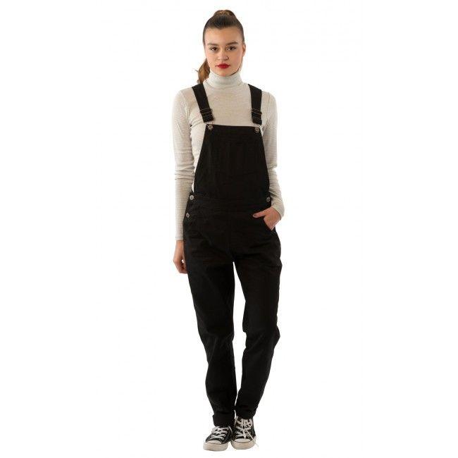 Bib Overalls Online US   USKEES Amanda Regular Fit Ladies Overalls - Black