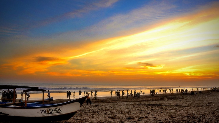Pangandaran Beach, sunset