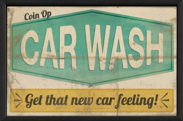 1950 Car Wash Sign