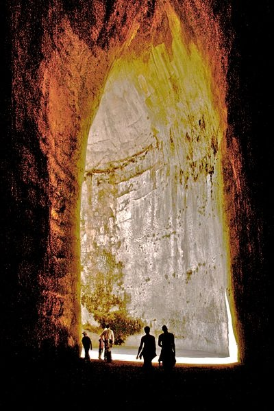 Ear of Dionysius: a limestone cave carved out of the Tremenites hill in the city of Syracuse, on the island of Sicily in Italy.