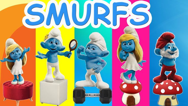 Smurfs Cartoon Finger Family Nursery Rhymes For Children | The Smurfs Fi...