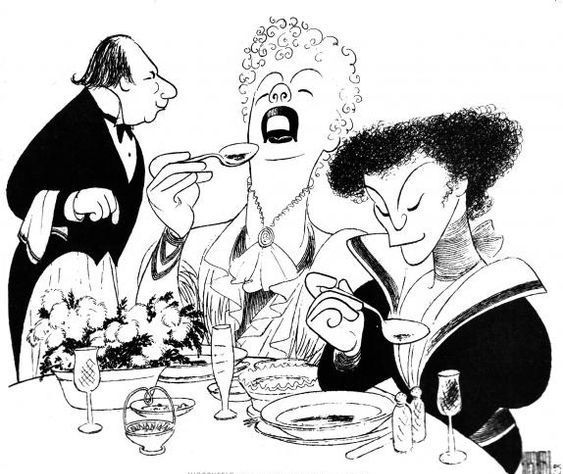 "Philip Bosco, Uta Hagen, and Amanda Plummer in ""You Never Can Tell' by Al Hirschfeld"