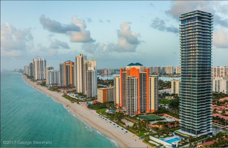Photograph by George Steinmetz @geosteinmetz  The weather forecast for Miami Beach predicts 90mph winds for Sunday afternoon.  It made me wonder how these glass towers will fare on the beach front.  When I took this photo a few years ago for @natgeo story about South Florida's vulnerability to climate change, I was told that the lower floors were designed to be flooded by storm surge.  But upon further questioning, it appeared that there was no way to protect the road access, or the water…