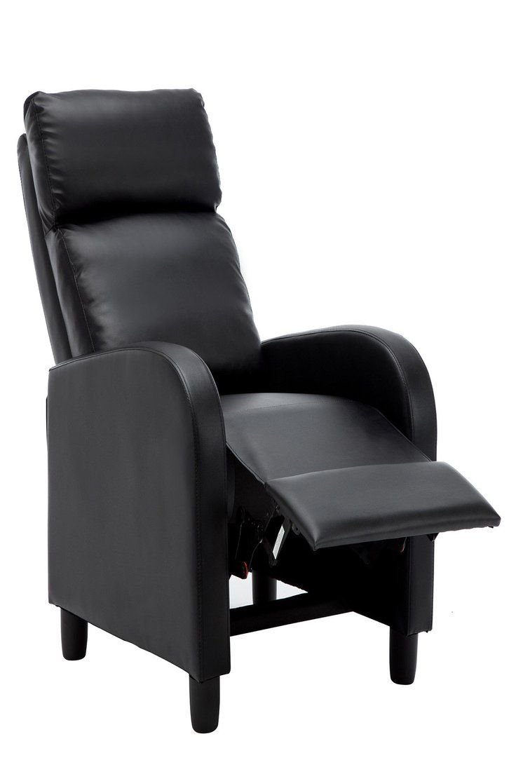 Lesesessel Leder 119 90 Black Manual Leisure Recliner Chair Chaise Couch Accent